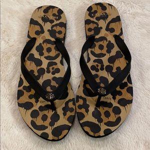 Coach flip flops sandals Camo  large 9-10 mint